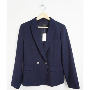 NWT J. Crew Dover Double Breasted Blazer Navy 8P